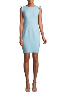 Elie Tahari Stefana Cap-Sleeve Sheath Dress