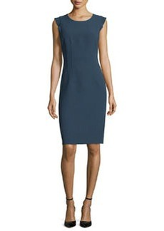 Elie Tahari Stefana Flutter-Sleeve Sheath Dress