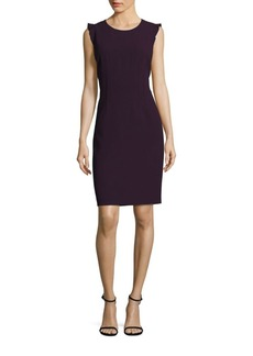 Elie Tahari Stefana Ruffle Sheath Dress