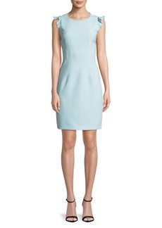 Elie Tahari Stefana Ruffle-Sleeve Dress