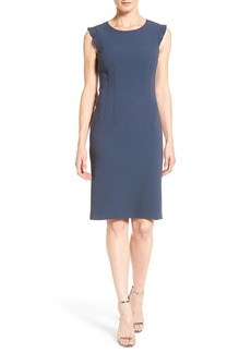 Elie Tahari 'Stefana' Ruffle Sleeve Sheath Dress
