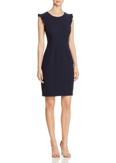 Elie Tahari Stefana Ruffle-Sleeve Shift Dress