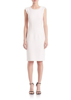 Elie Tahari Stefana Solid Sheath Dress