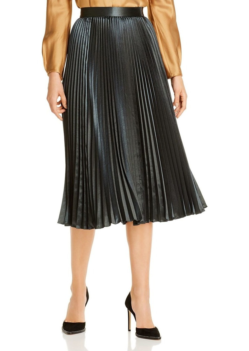 Elie Tahari Sue Pleated Midi Skirt