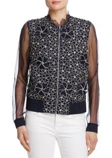 Elie Tahari Suri Embellished Bomber Jacket