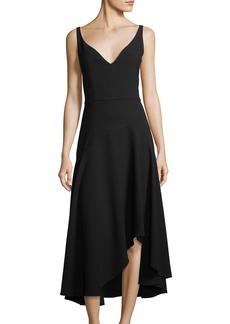 Elie Tahari Susie Asymmetric-Hem A-Line Dress
