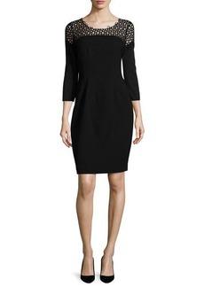 Elie Tahari Suzie 3/4-Sleeve Sheath Dress