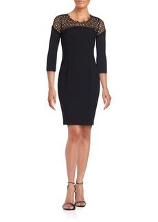 Elie Tahari Suzie Lace-Yoked Sheath Dress