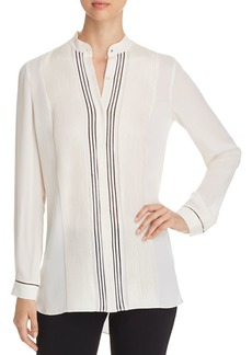 Elie Tahari Sydney Pleated Silk Tunic