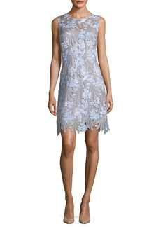 Elie Tahari Tallulah Floral-Appliqué Sleeveless Dress