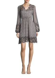 Elie Tahari Tally Printed Silk Dress
