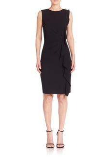Elie Tahari Tamara Ruffle Sheath Dress