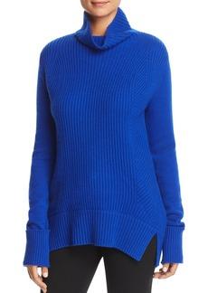 Elie Tahari Tamaya Ribbed Cowl-Neck Sweater