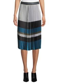 Elie Tahari Tamsen Colorblock Pleated Skirt