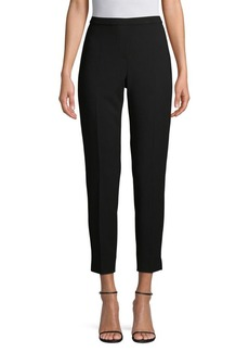 Elie Tahari Tapered High-Rise Cropped Pants