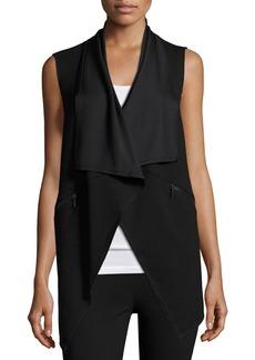 Elie Tahari Taryn Draped Zip-Pocket Vest