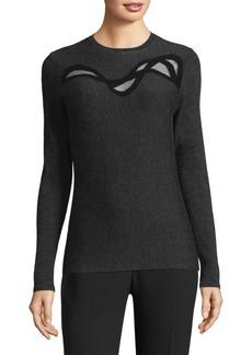 Elie Tahari Textured Merino Wool Sweater