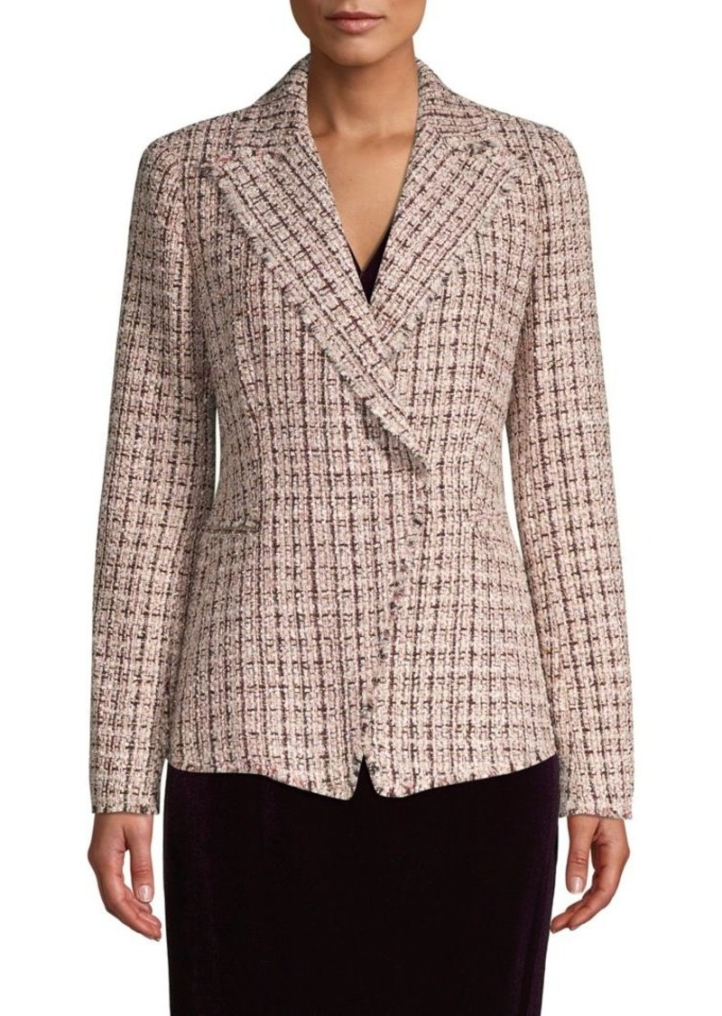 Elie Tahari Textured Notch-Lapel Jacket
