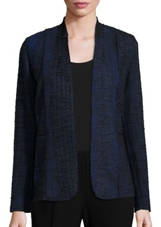 Elie Tahari Textured Open Front Jacket