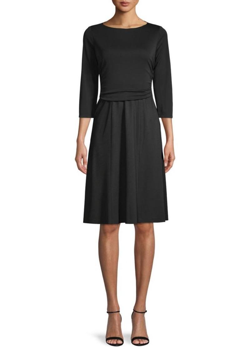 Elie Tahari Three-Quarter Sleeve Dress