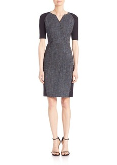 Elie Tahari Tinsley Tweed Sheath Dress