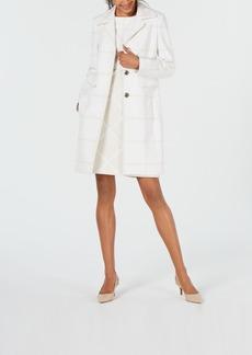 Elie Tahari Tonal Checked Coat