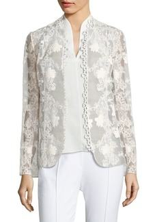 Elie Tahari Tori Embroidered Jacket