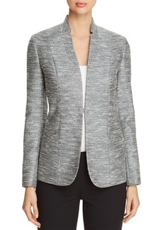 Elie Tahari Tori Metallic-Tweed Blazer