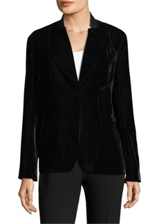 Elie Tahari Tori Velvet Jacket
