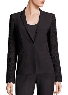 Elie Tahari Tova Lace Trimmed Jacket