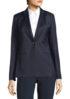 Elie Tahari Tova Textured One-Button Blazer