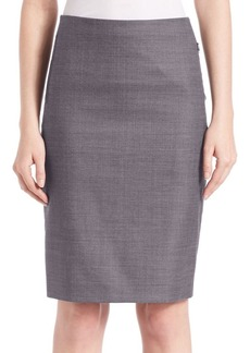 Elie Tahari Tulia Textured Pencil Skirt