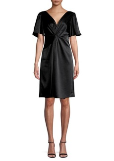 Elie Tahari Twisted-Front Mini Dress