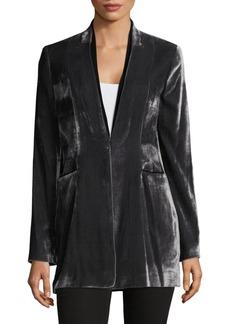 Elie Tahari V-Neck Velvet Jacket