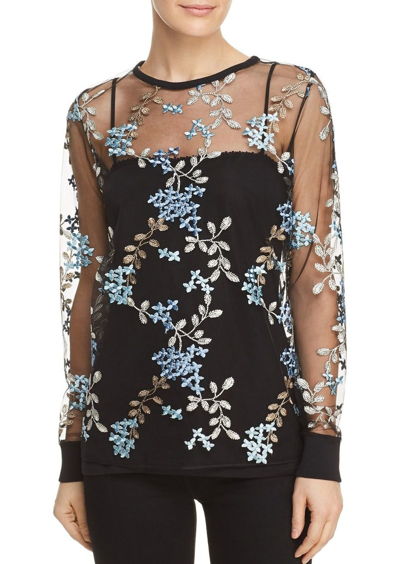 fea15528cbcff Elie Tahari Elie Tahari Val Floral Embroidered Top Now  74.40