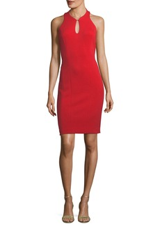 Elie Tahari Velma Racerback Keyhole Mini Dress