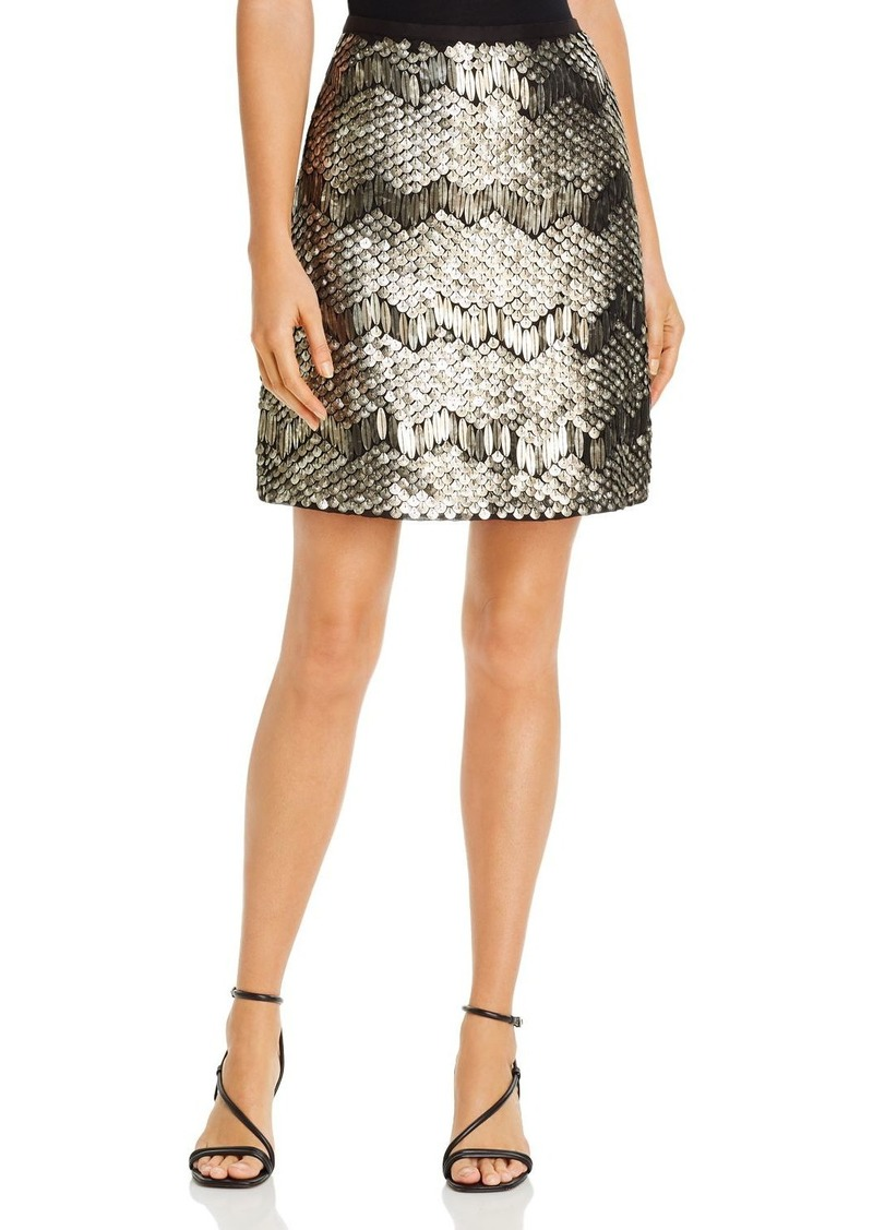 Elie Tahari Venus Deco Sequined Skirt