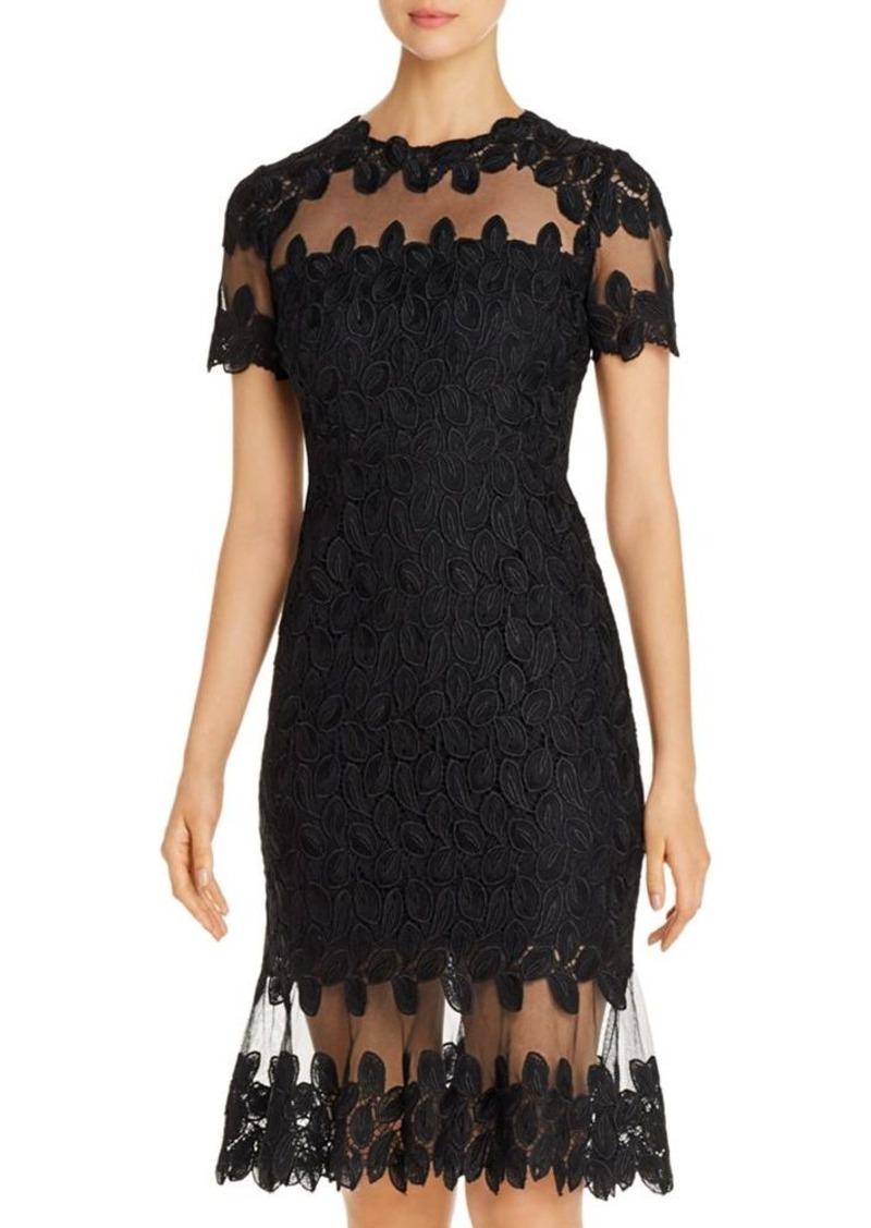 Elie Tahari Venus Mesh Lace Dress