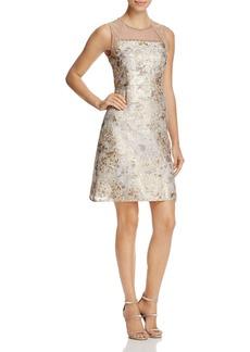 Elie Tahari Vera Illusion Brocade Dress