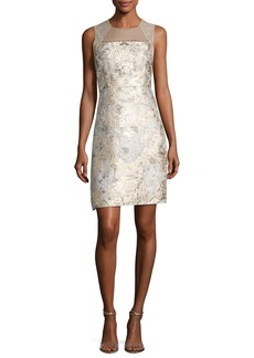 Elie Tahari Vera Sleeveless Floral Brocade Cocktail Dress