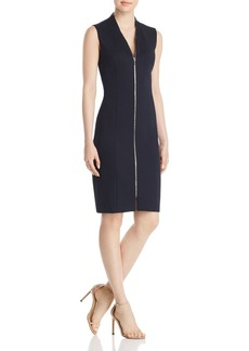 Elie Tahari Verdie Zip-Front Dress