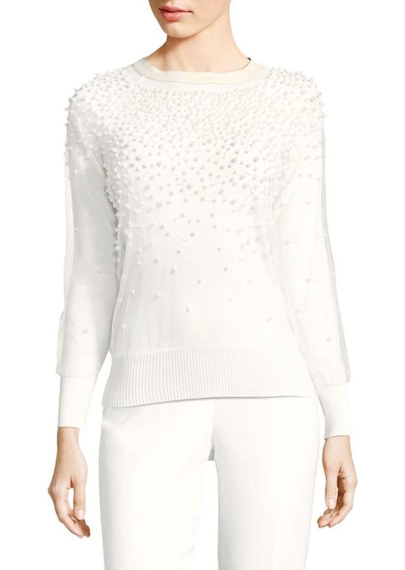 384a816019358 Elie Tahari Elie Tahari Verna Merino Wool Pearl Sweater