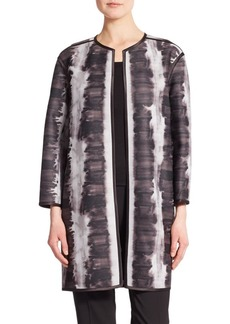 Elie Tahari Vida Abstract-Print Topper