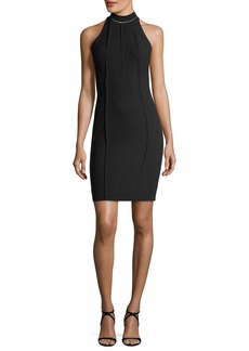 Elie Tahari Viola High-Neck Mini Dress