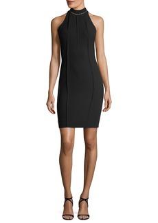 Elie Tahari Viola High-Neck Mini Dress