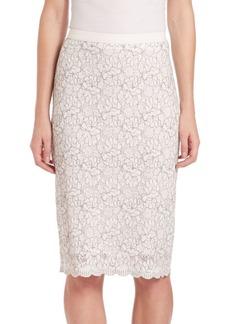 Elie Tahari Violet Lace Skirt