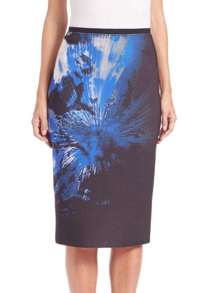Elie Tahari Violet Neo Floral Pencil Skirt
