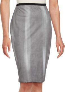Elie Tahari Washed Pencil Skirt