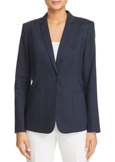 Elie Tahari Wendy Embroidered Lace-Back Blazer