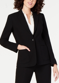 Elie Tahari Wendy One-Button Blazer